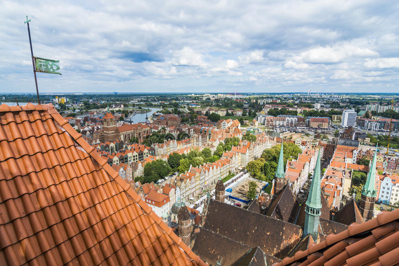 Stadsmening Gdansk royalty-vrije stock foto's