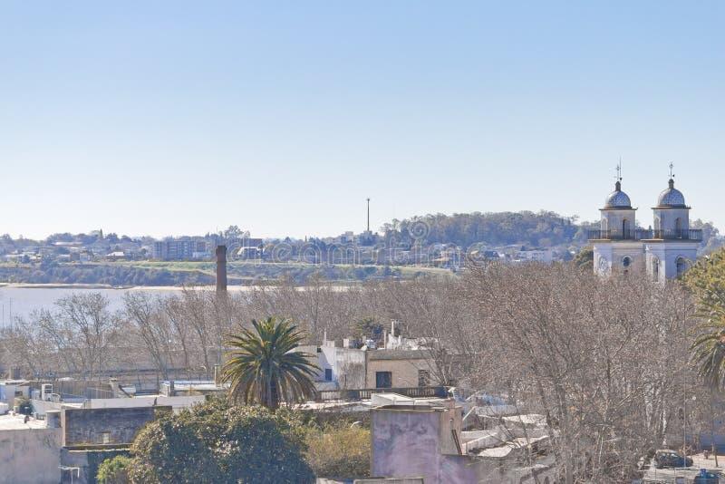 Stadsmening van Colonia del Sacramento royalty-vrije stock afbeeldingen