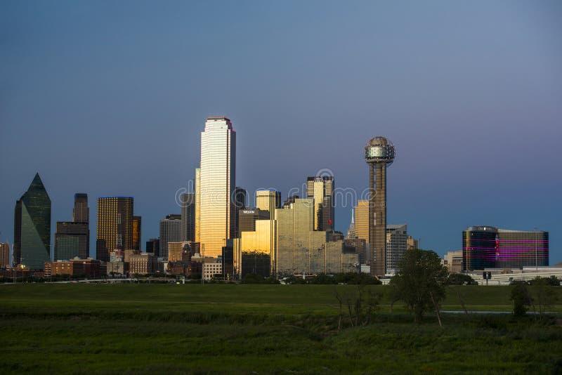 Stadsmening van Dallas Texas van de binnenstad royalty-vrije stock foto's