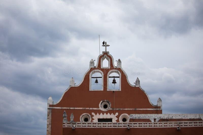 Stadsmening van de oude stad van Valladolid royalty-vrije stock fotografie
