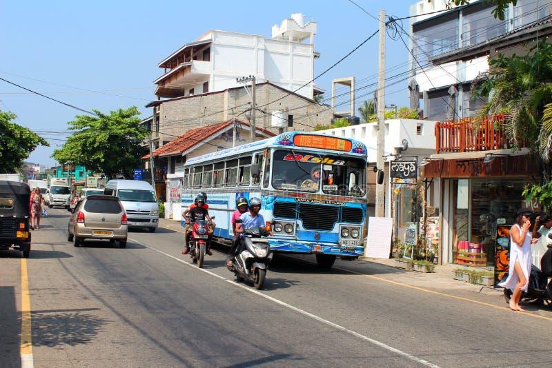 Stadsmening van Hikkaduwa, Sri Lanka royalty-vrije stock afbeelding