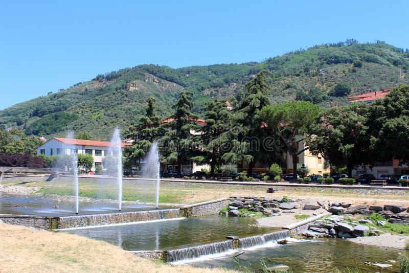 Stadsmening van Pescia, Italië royalty-vrije stock afbeeldingen