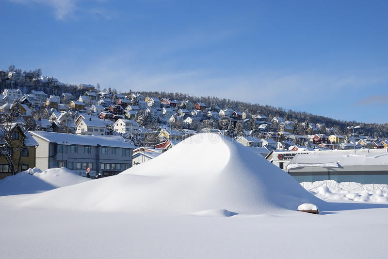 Stadsmening van Tromso royalty-vrije stock fotografie