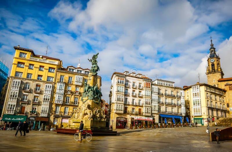 Stadsmening vitoria-Gasteiz, Spanje royalty-vrije stock afbeelding