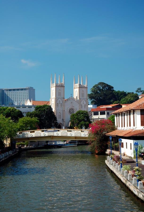 Stadsmeningen van Malacca, Maleisië royalty-vrije stock afbeeldingen