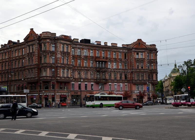 Stadsmeningen van St. Petersburg royalty-vrije stock afbeeldingen