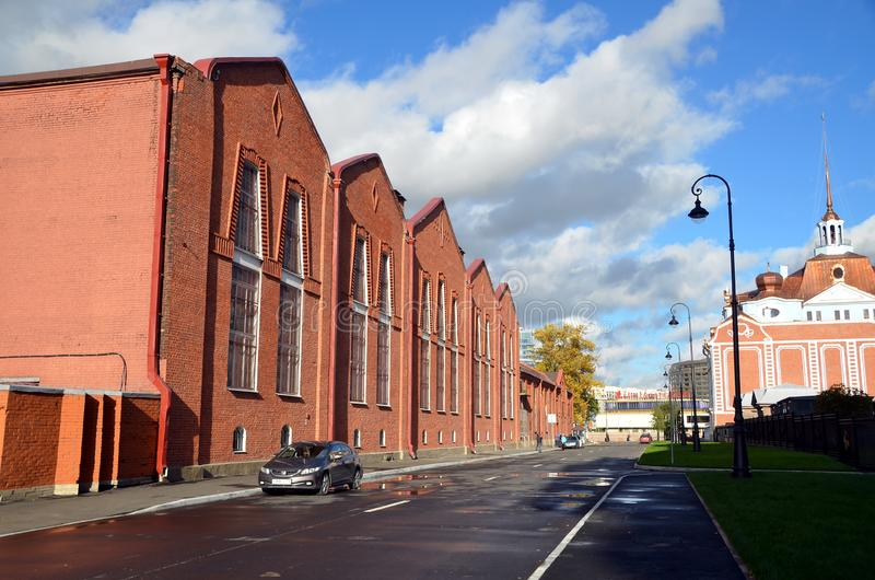 Stadsmeningen van St. Petersburg stock afbeeldingen