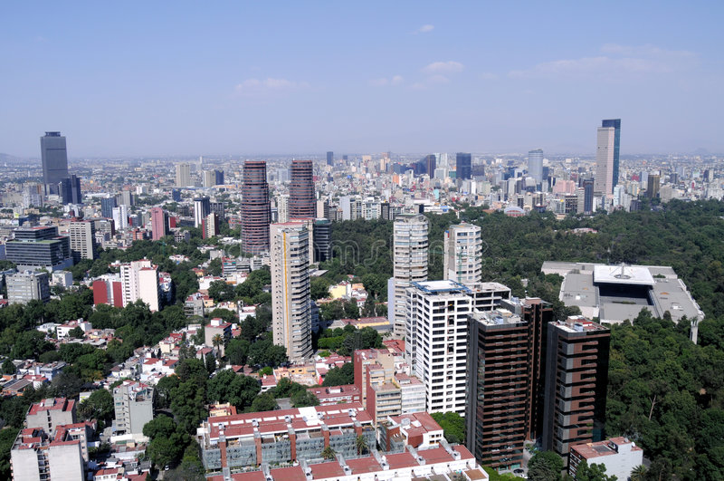 stadsmexico horisont arkivbilder