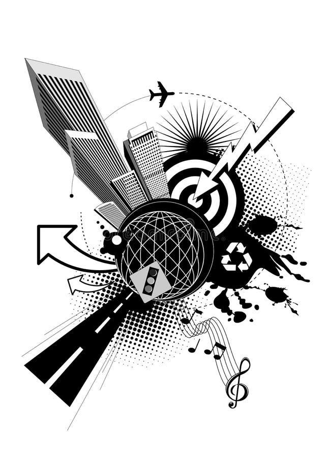 stadsmiljö royaltyfri illustrationer