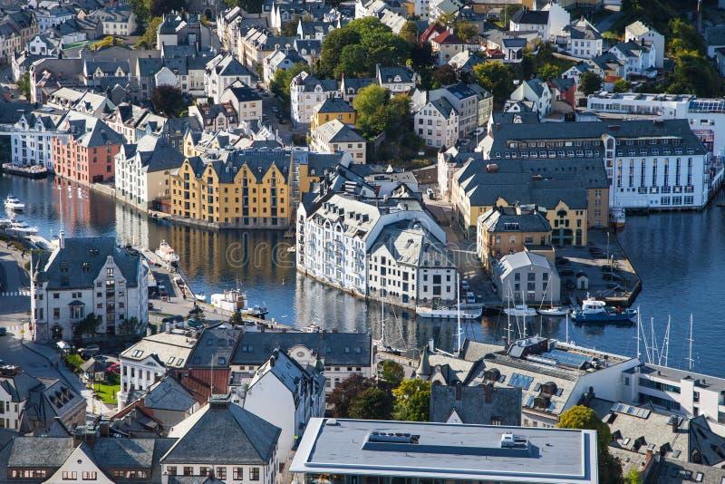Stadsmitt av Alesund royaltyfri bild