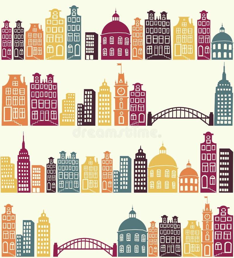 stadsmodell royaltyfri illustrationer