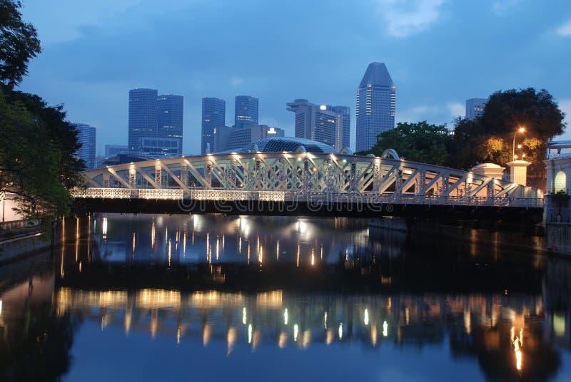 stadsmorgon singapore royaltyfri fotografi