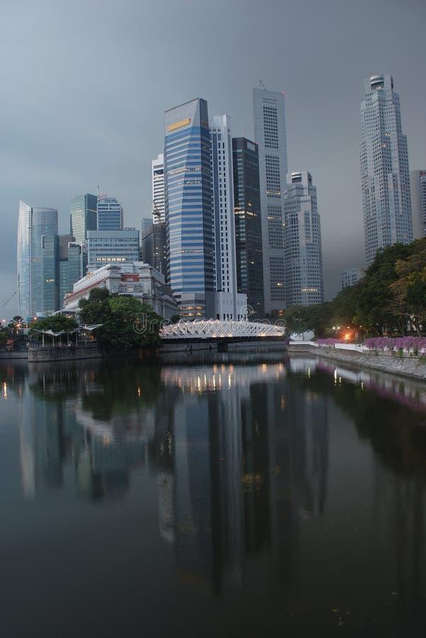 stadsmorgon singapore arkivbild