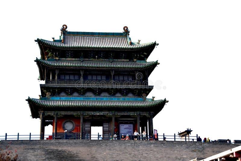 Stadsmuren bij de Oude Stad van Pingyao, China stock afbeelding