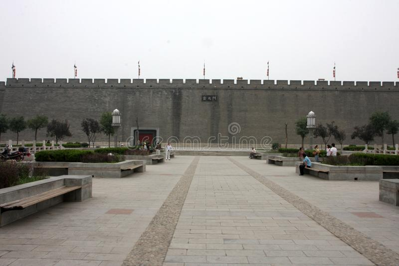 Stadsmuren China stock fotografie