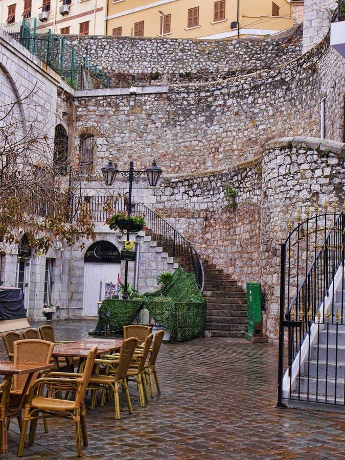 Stadsmuren op de Rots van Gibraltar royalty-vrije stock foto's