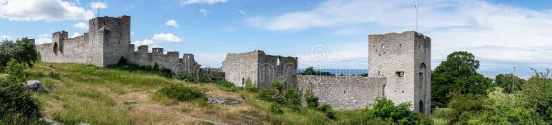 Stadsmuren van Visby, Zweden royalty-vrije stock afbeelding