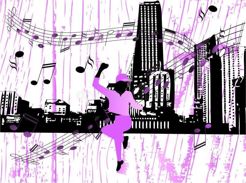 stadsmusik stock illustrationer