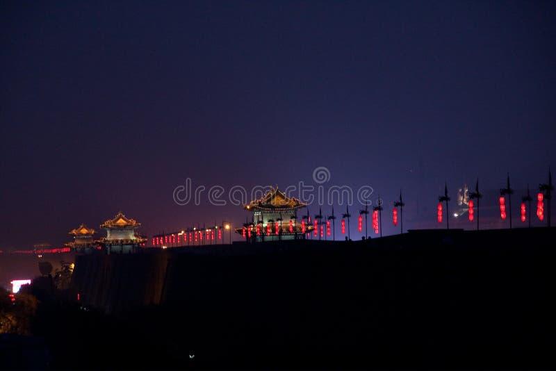 Stadsmuur in China stock foto's
