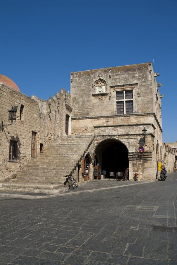 Stadsmuur in Rhodos royalty-vrije stock foto's