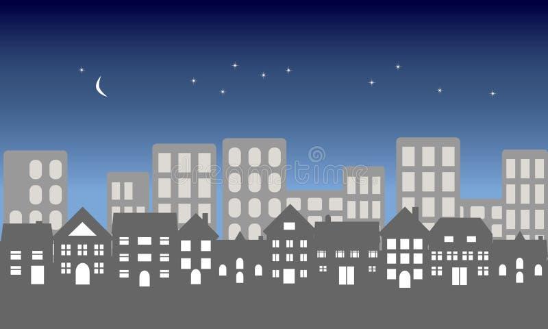 stadsnatt stock illustrationer