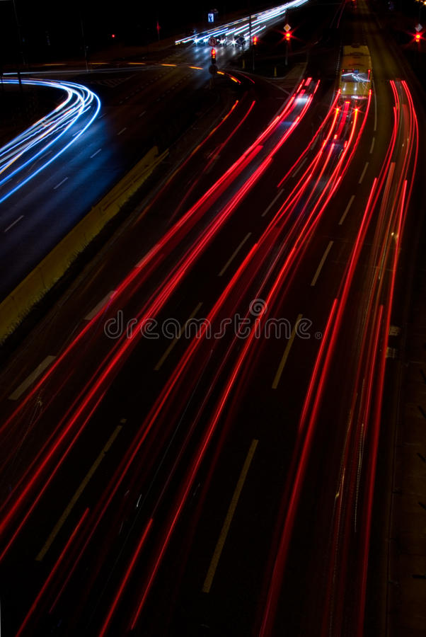 stadsnatttrafik arkivfoton