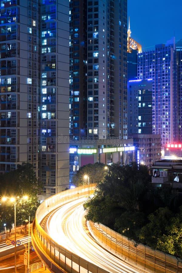 stadsnattviaduct arkivfoton