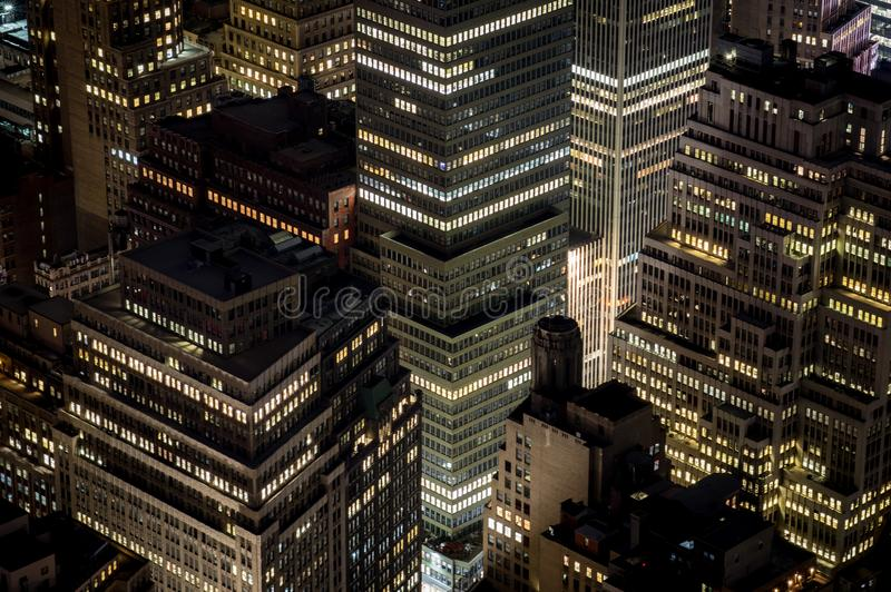 stadsområde finansiella New York royaltyfri bild