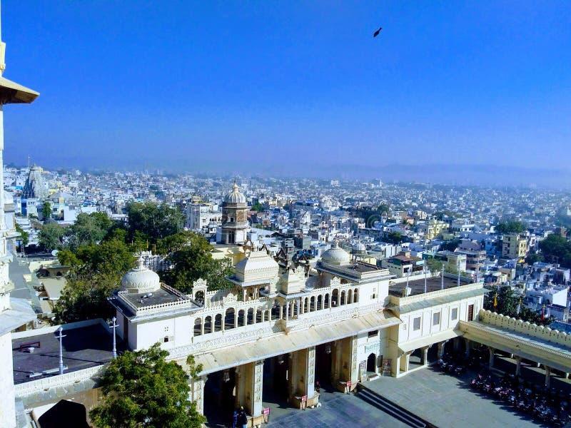 Stadspaleis, udaipur, Rajasthan, India royalty-vrije stock foto