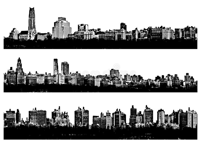 stadspanorama royaltyfria bilder