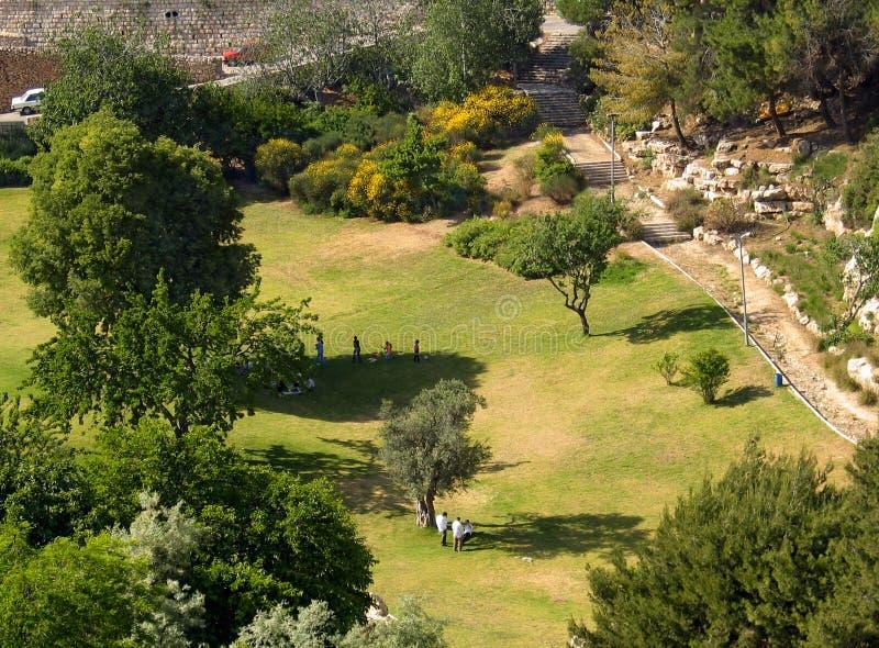 stadspark arkivbild