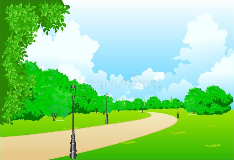 stadspark vektor illustrationer