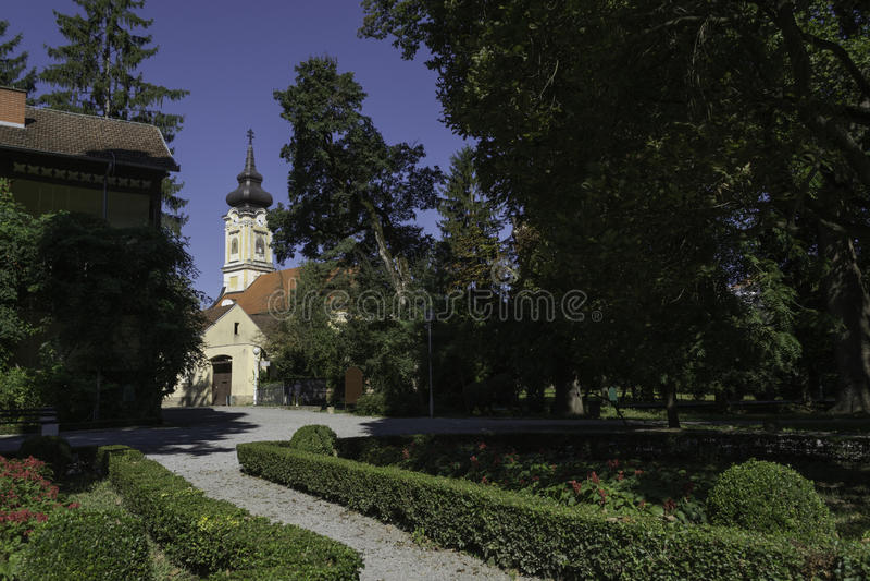 Stadspark, Daruvar, Kroatië royalty-vrije stock foto's