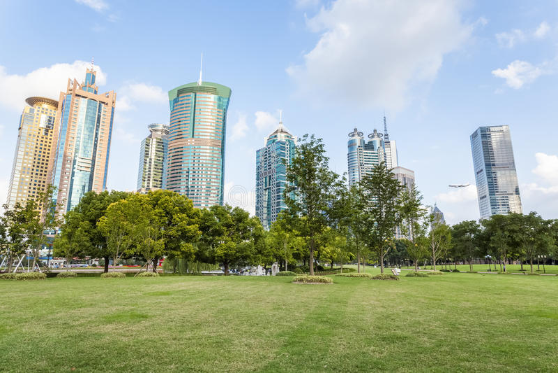 Stadspark in Shanghai royalty-vrije stock fotografie