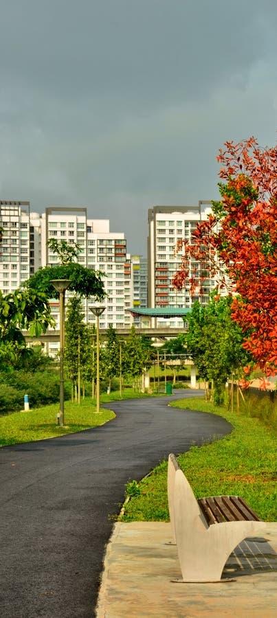 Stadspark Singapore stock foto