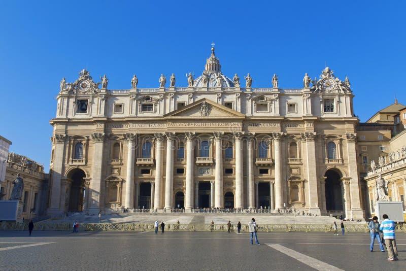 stadspeter s fyrkantig st vatican rome arkivfoton