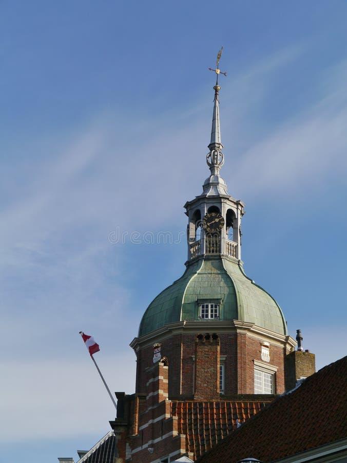 Stadspoort Groothoofdspoort in Dordrecht in Nederland stock foto's