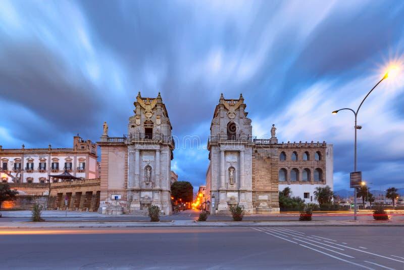 Stadspoort Porta Felice, Palermo, Sicilië, Italië royalty-vrije stock fotografie