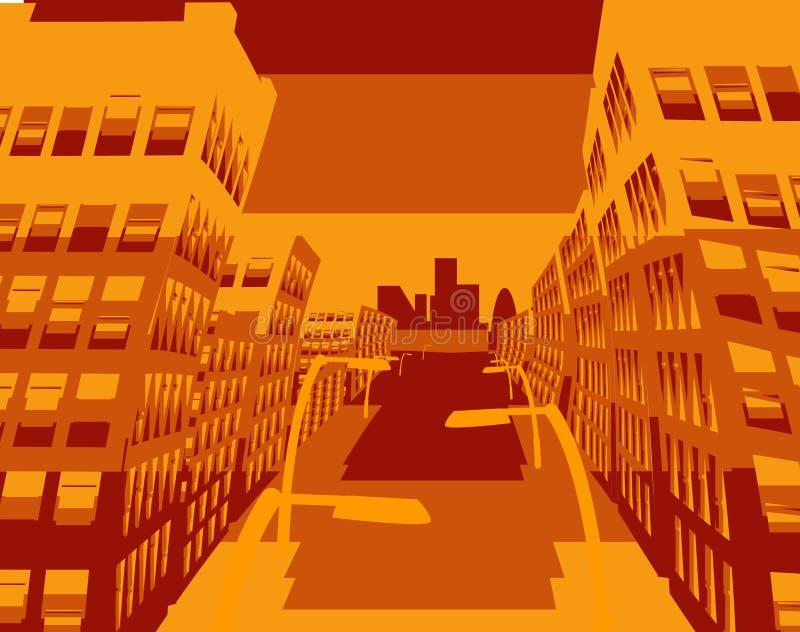 stadsscape stock illustrationer