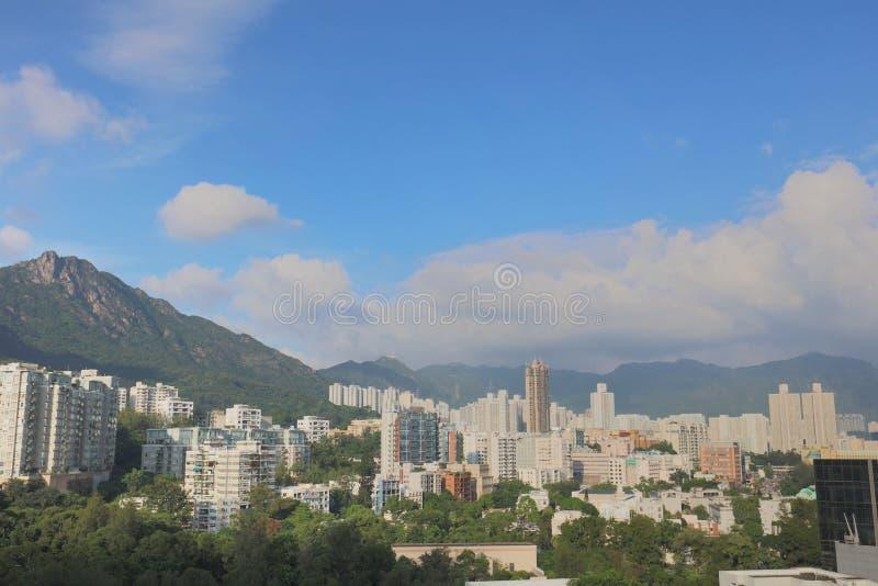 stadsscapen av kowloon den östliga delen arkivfoto