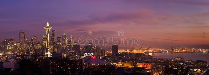 stadsseattle horisont royaltyfri fotografi