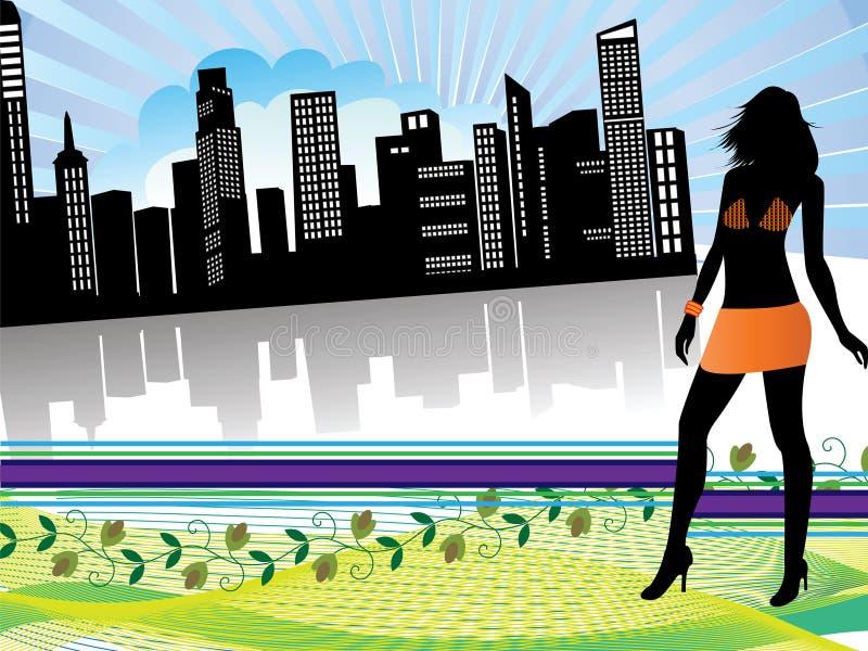 stadsshopping vektor illustrationer