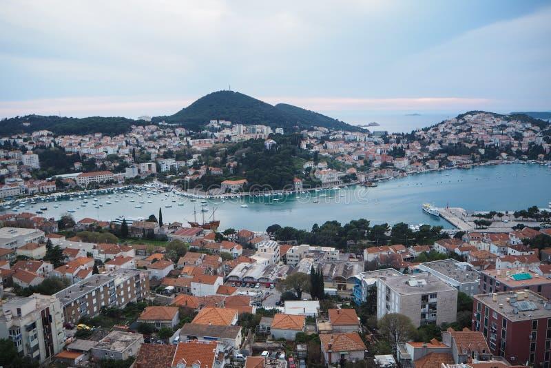 Stadssikt av den gamla staden Dubrovnik fotografering för bildbyråer