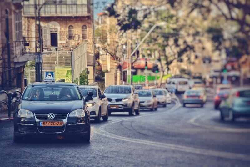 stadssikt av haifa arkivbild