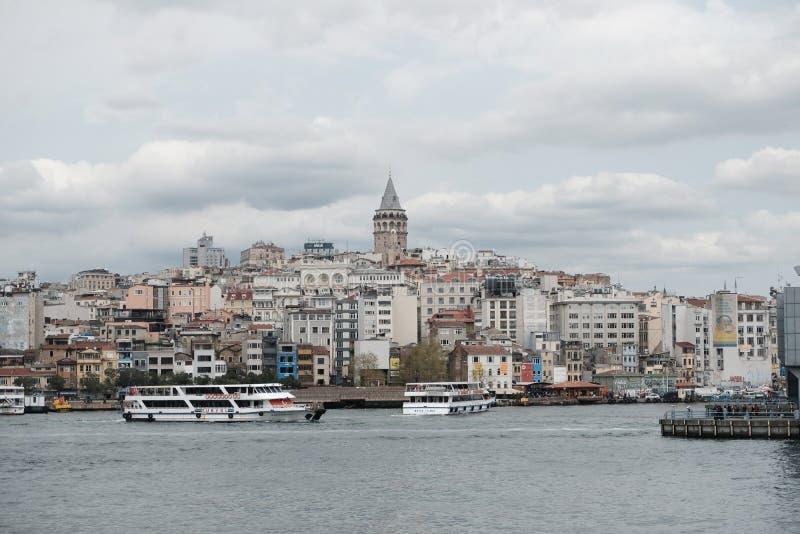 Stadssikt av Istanbul, Turkiet arkivfoto