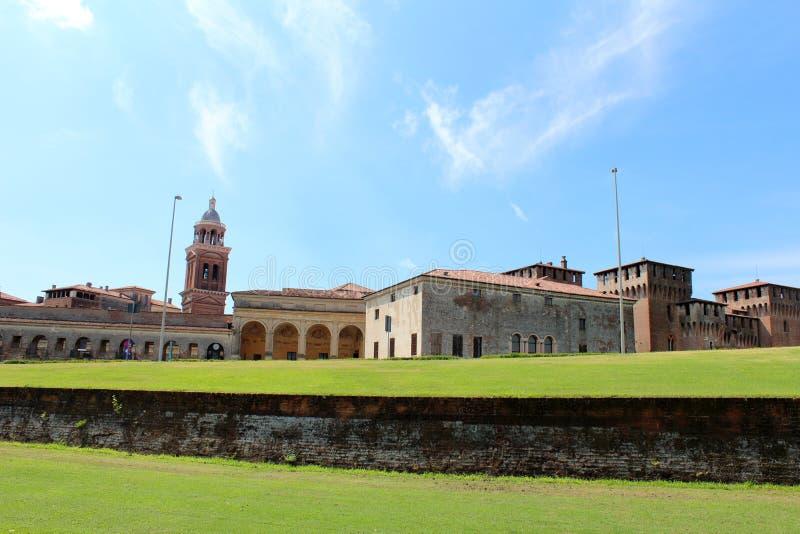Stadssikt av Mantua, Italien royaltyfri foto