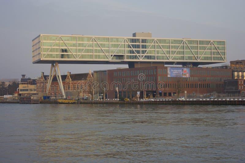 Stadssikt av Rotterdam, Netherland royaltyfri fotografi
