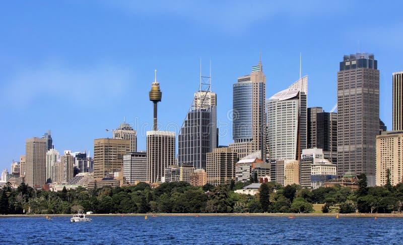Stadssikt av Sydney i Australien royaltyfria foton