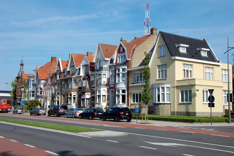 Stadssikter av Bruges royaltyfria bilder