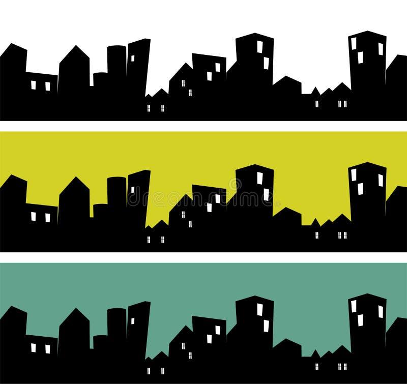 Stadssilhouet stock illustratie
